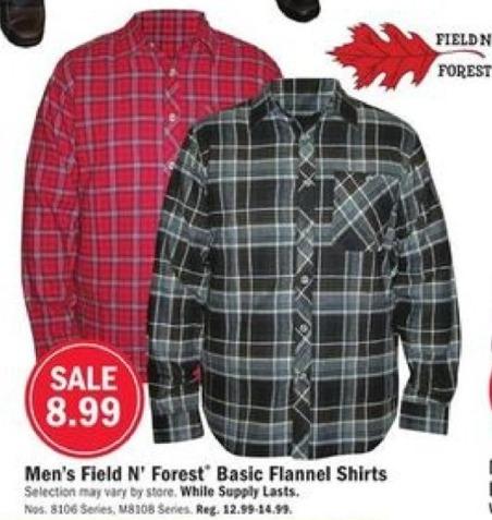 Mills Fleet Farm Black Friday: Field N' Forest Basic Flannel Shirts for $8.99