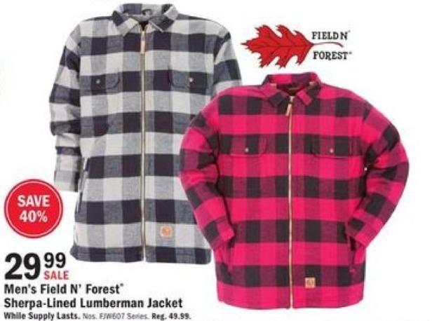 Mills Fleet Farm Black Friday: Field N' Forest Sherpa-Lined Lumberman Jacket for $29.99