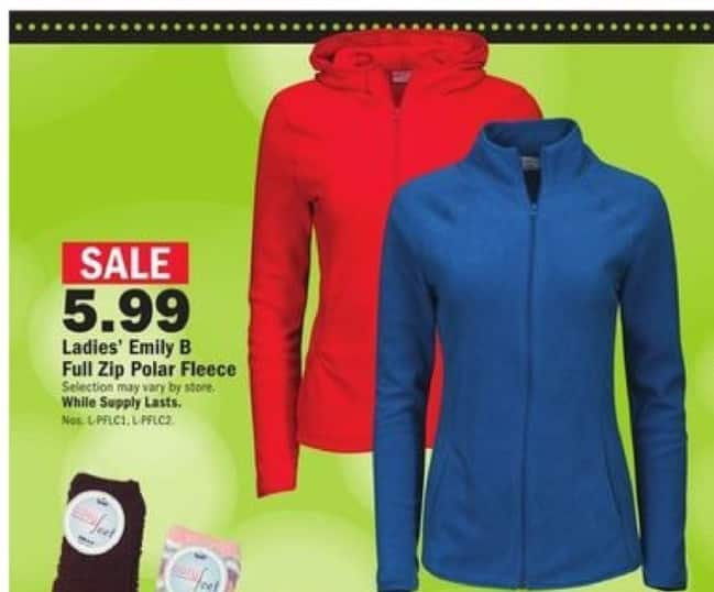 Mills Fleet Farm Black Friday: Emily B Full Zip Polar Fleece for $5.99