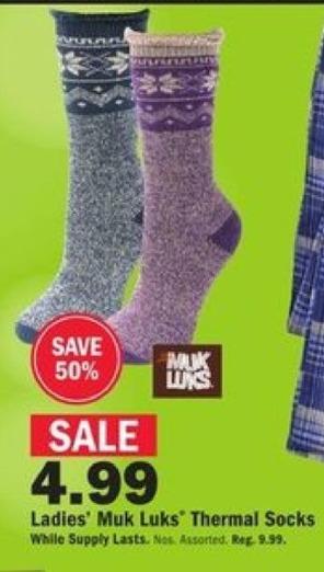 Mills Fleet Farm Black Friday: Muk Luks Thermal Socks for Her for $4.99