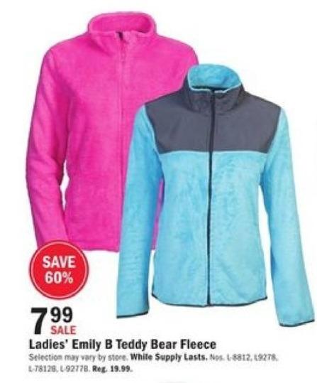 Mills Fleet Farm Black Friday: Emily B Teddy Bear Fleece for $7.99