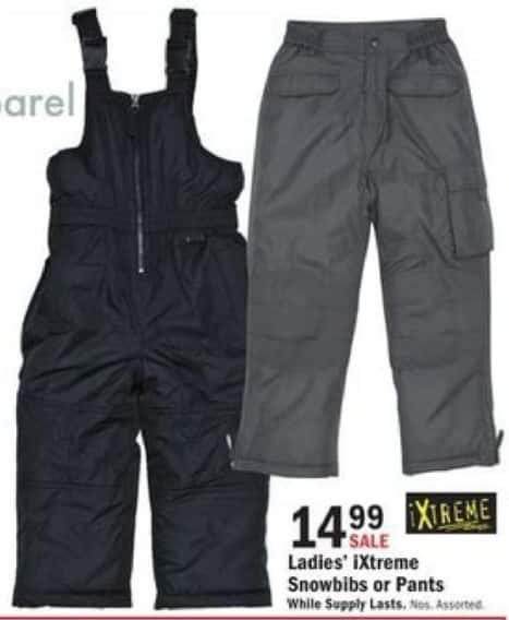 Mills Fleet Farm Black Friday: iXtreme Snow Bibs or Pants for Women for $14.99