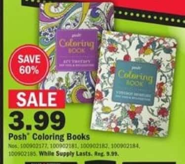 Mills Fleet Farm Black Friday: Posh Coloring Books for $3.99