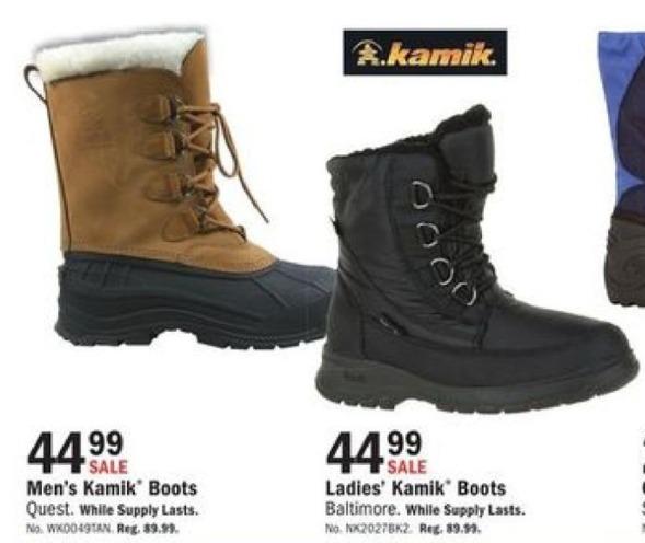 Mills Fleet Farm Black Friday: Kamik Boots for Men & Women for $44.99