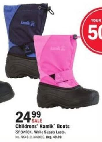 Mills Fleet Farm Black Friday: Kamik Boots for Kids for $24.99