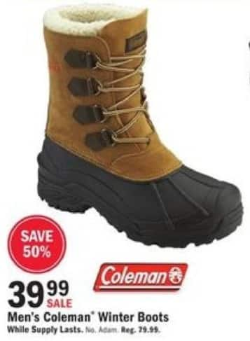 Mills Fleet Farm Black Friday: Coleman Winter Boots for Men for $39.99
