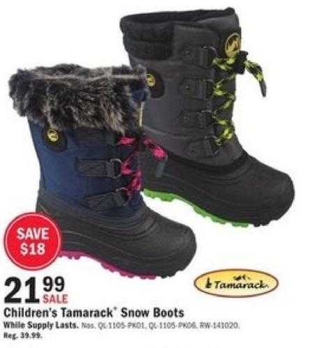 Mills Fleet Farm Black Friday: Tamarack Snow Boots for Kids for $21.99