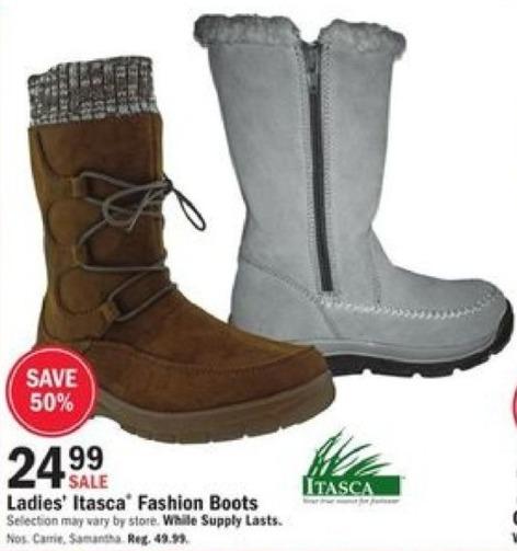 Mills Fleet Farm Black Friday: Itasca Fashion Boots for $24.99