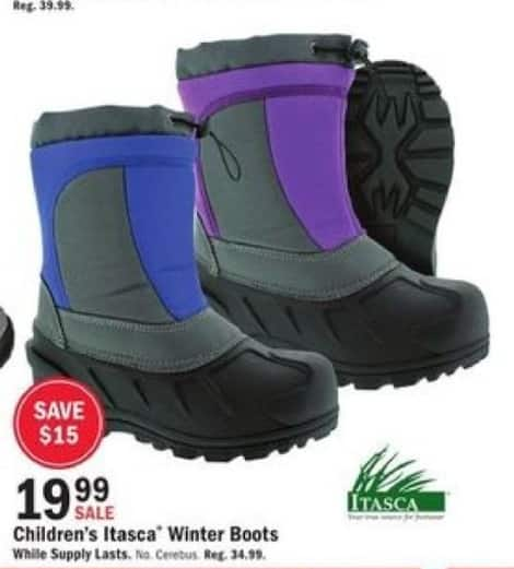 Mills Fleet Farm Black Friday: Itasca Winter Boots for Kids for $19.99