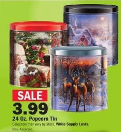 Mills Fleet Farm Black Friday: 24oz Popcorn Tin for $3.99