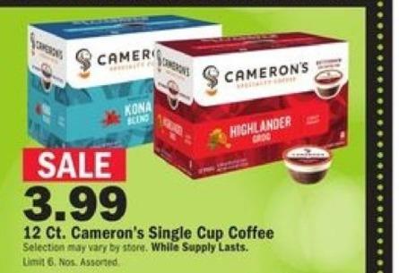 Mills Fleet Farm Black Friday: Cameron's 12-ct Single Cup Coffee for $3.99