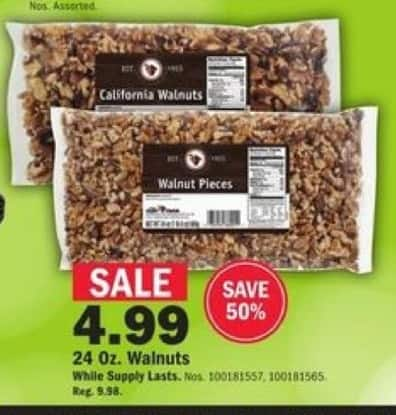 Mills Fleet Farm Black Friday: Walnuts - 24oz for $4.99