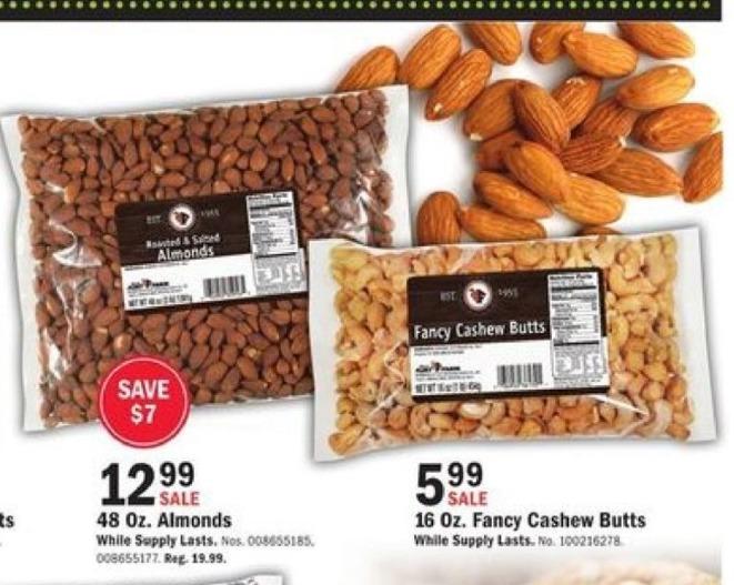 Mills Fleet Farm Black Friday: Almonds - 48oz for $12.99