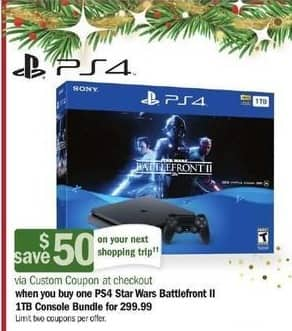 Meijer Black Friday: PS4 Star Wars Battlefront II 1TB Console Bundle + $50 Custom Coupon for $299.99