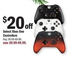 Meijer Black Friday: Select Xbox One Controllers for $39.99 - $49.99