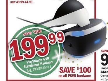 Meijer Black Friday: PS4 VR Standalone Hardware for $199.99