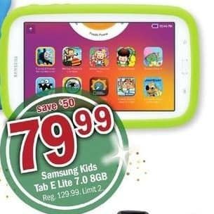 "Meijer Black Friday: 8GB Samsung Kids Tab E Lite 7"" Tablet for $79.99"