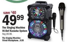 Meijer Black Friday: The Singing Machine Hi-Def Karaoke System for $49.99