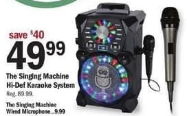 Meijer Black Friday: The Singing Machine Wired Microphone for $9.99