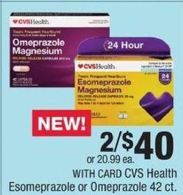CVS Black Friday: (2) CVS Health Esomeprazole or Omeprazole 42-ct for $40.00