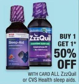 CVS Black Friday: ZzzQuil or CVS Health Sleep Aids - B1G1 50% Off