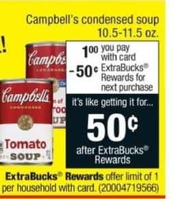 CVS Black Friday: Campbell's Condensed Soup + $.50 ECB for $1.00