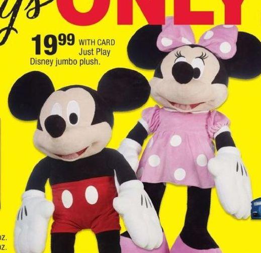 CVS Black Friday: Just Play Disney Jumbo Plush for $19.99