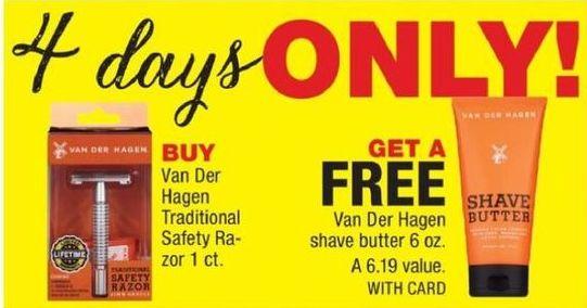 CVS Black Friday: Buy Van Der Hagen Traditional Safety Razor, Get Van Der Hagen Shave Butter 6-oz for Free