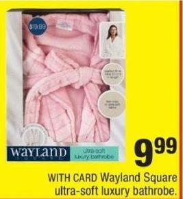 CVS Black Friday: Wayland Square Ultra Soft Luxury Bathrobe for $9.99