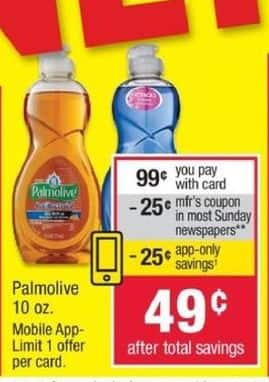 CVS Black Friday: Palmolive 10-oz Dish Soap w/ App & Coupon for $0.49