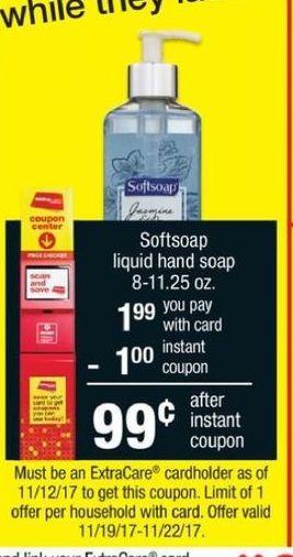 CVS Black Friday: Softsoap Liquid Hand Soap 8-11.25oz w/ Coupon for $0.99