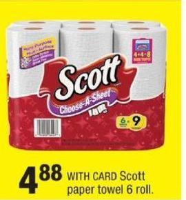 CVS Black Friday: Scott Paper Towels 6-ct for $4.88