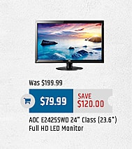 "MacMall Black Friday: ADC E2425SWD 24"" LED Monitor for $79.99"
