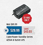 MacMall Black Friday: CyberPower Standby Series 425VA 8 Outlet UPS for $29.99