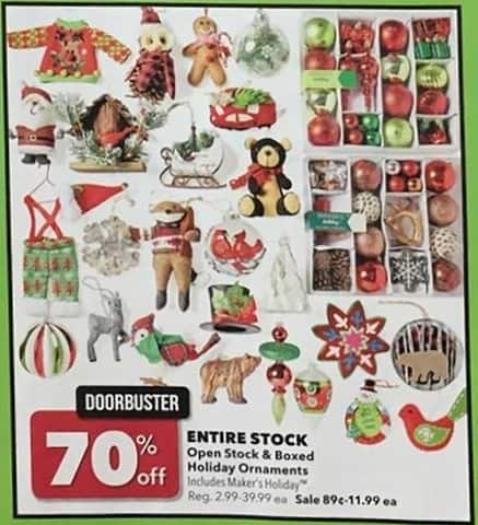 Joann Black Friday: Entire Stock of Open Stock & Boxed Holiday Ornaments - 70% Off