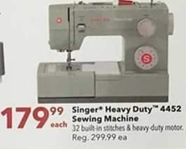 Joann Black Friday: Singer Heavy Duty 4452 Sewing Machine for $179.99