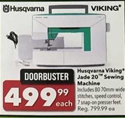 Joann Black Friday: Husqvarna Viking Jade 20 Sewing Machine for $499.99