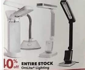 Joann Black Friday: Entire Stock of OttLite Lighting - 40% Off