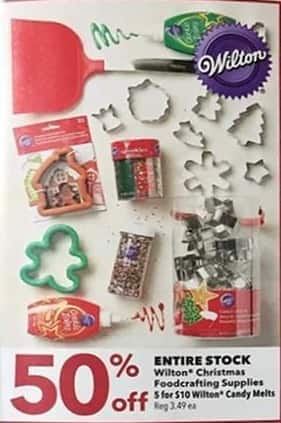 Joann Black Friday: Entire Stock of Wilton Christmas Foodcrafting Supplies - 50% Off