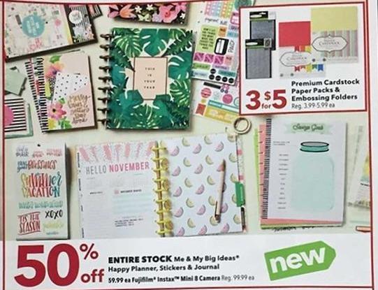 Joann Black Friday: (3) Premium Cardstock Paper Packs & Embossing Folders for $5.00