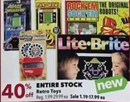 Joann Black Friday: Entire Stock of Retro Toys - 40% Off