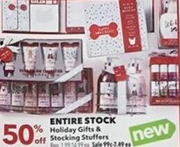 Joann Black Friday: Entire Stock of Holiday Gifts & Stocking Stuffers - 50% Off