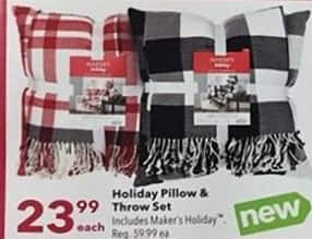 Joann Black Friday: Holiday Pillow & Throw Set for $23.99