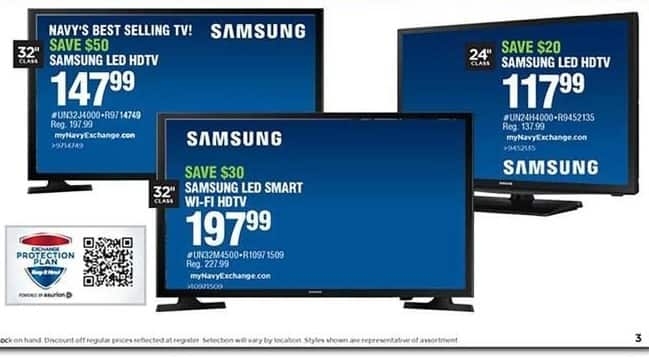 "Navy Exchange Black Friday: 24"" Samsung UN24H4000 LED HDTV for $117.99"