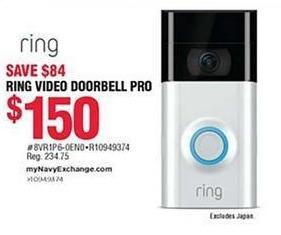 Navy Exchange Black Friday: Ring Video Doorbell Pro for $150.00
