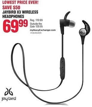 Navy Exchange Black Friday: Jaybird X3 Wireless Headphones for $69.99