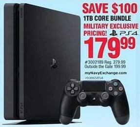 Navy Exchange Black Friday: Playstation 4 1TB Core Bundle for $179.99