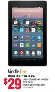 "Navy Exchange Black Friday: 8GB Kindle Fire 7"" Tablet for $29.00"
