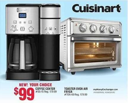 Navy Exchange Black Friday: Cuisinart Coffee Center or Cuisinart Toaster Oven Air Fryer for $99.00