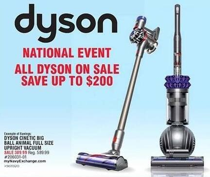 Navy Exchange Black Friday: Dyson Vacuums - Save up to $200